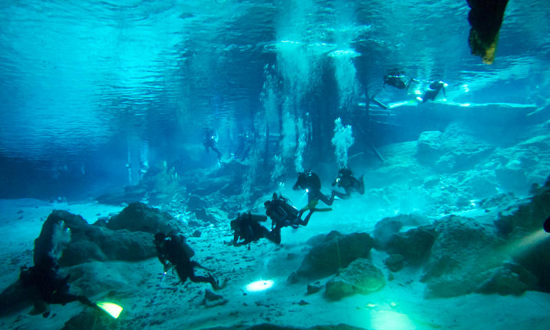 Cenotes in the Riviera Maya.